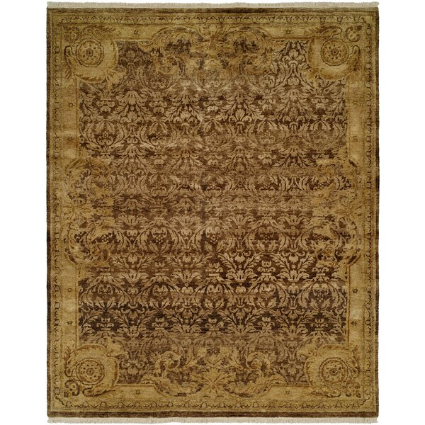 Masonville Hand Knotted Wool Brown/Ivory Area Rug by Astoria Grand