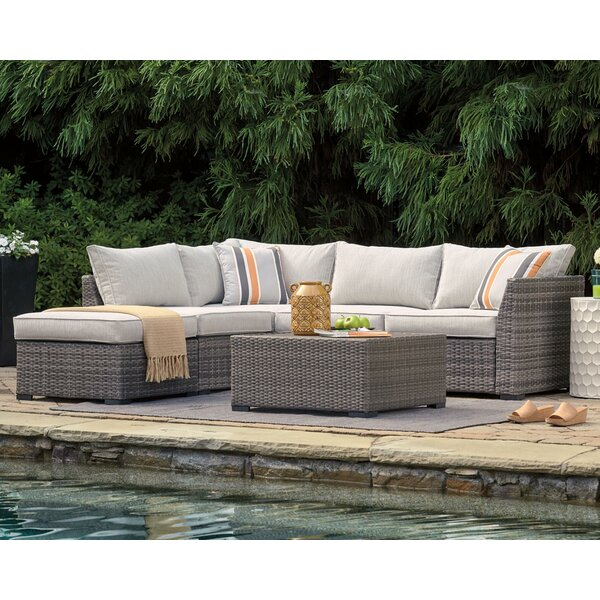 Luthersville 4 Piece Rattan Sectional Seating Group with Cushions (Set of 4) by Bay Isle Home