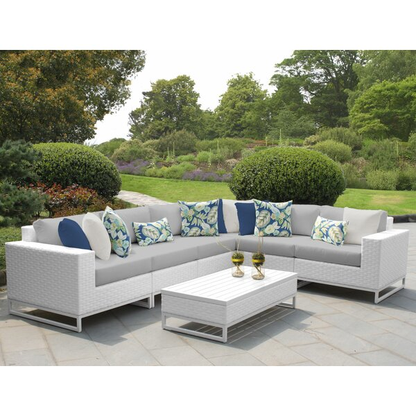 Miami 7 Piece Sectional Set with Cushions by TK Classics