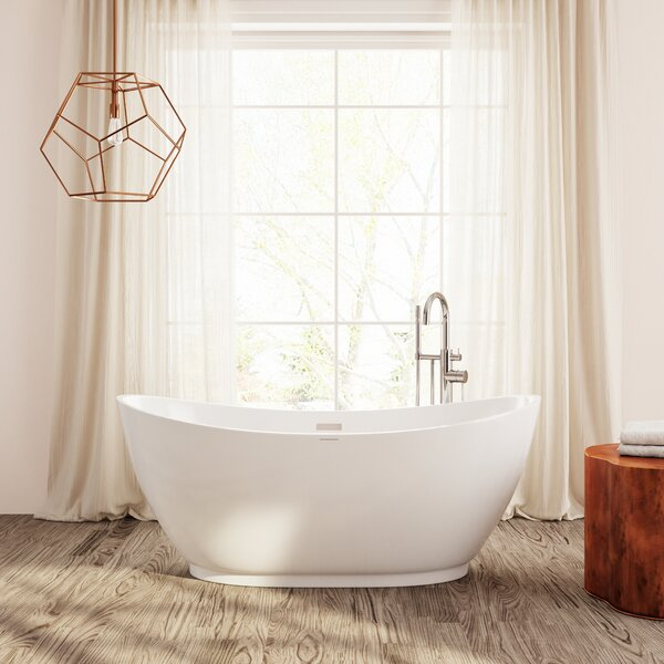 Roma 66 x 29 Freestanding Soaking Bathtub by Perlato
