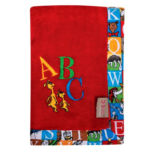 Dr. Seuss Alphabet Seuss Framed Fleece Baby Blanket by Trend Lab