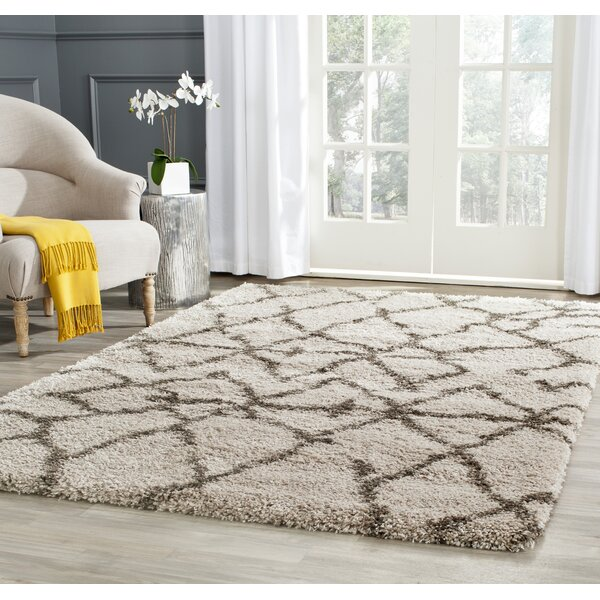Messiah Taupe/Grey Area Rug by Bungalow Rose