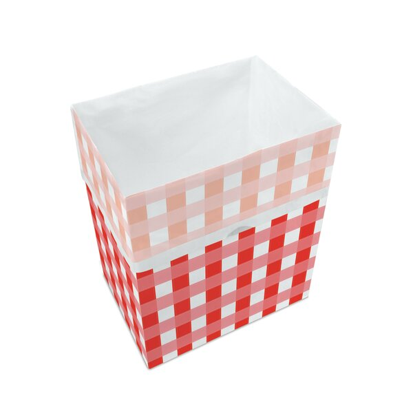 Picnic Pattern Paper 13 Gallon Trash Can (Set of 3) by Clean Cubes LLC