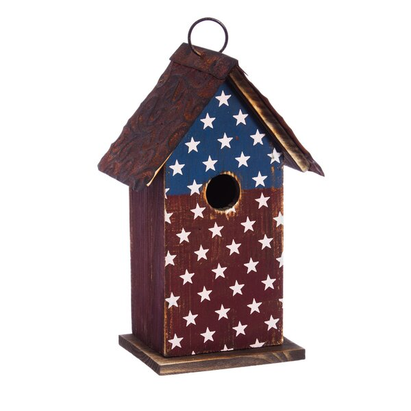 American Splendor 10 in x 6 in x 4 in Birdhouse by Evergreen Flag & Garden