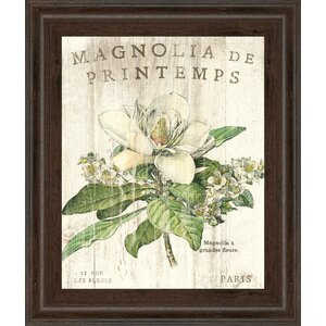 'Magnolia De Printemps' Framed Graphic Art by Laurel Foundry Modern Farmhouse