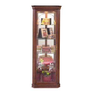 Lighthouse Tempo Lighted Corner Curio Cabinet by Philip Reinisch Co.