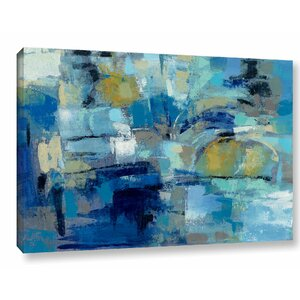 Ultramarine Waves III Painting Print on Wrapped Canvas by Brayden Studio
