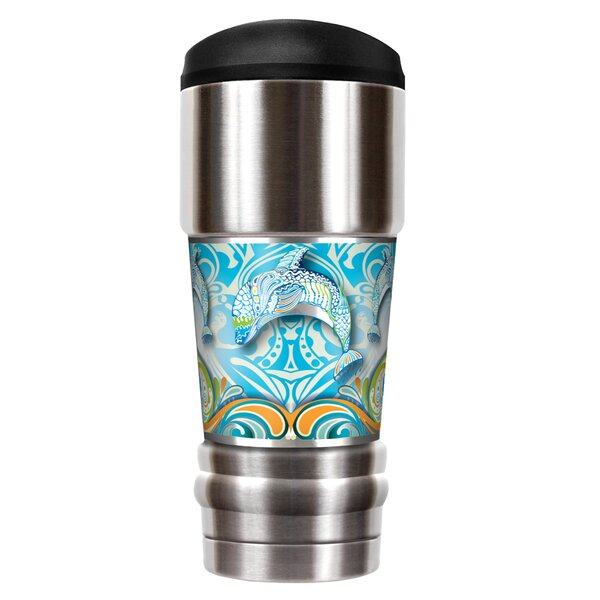 Dolphin Dance 18 oz. Stainless Steel Travel Tumbler by Great American Products