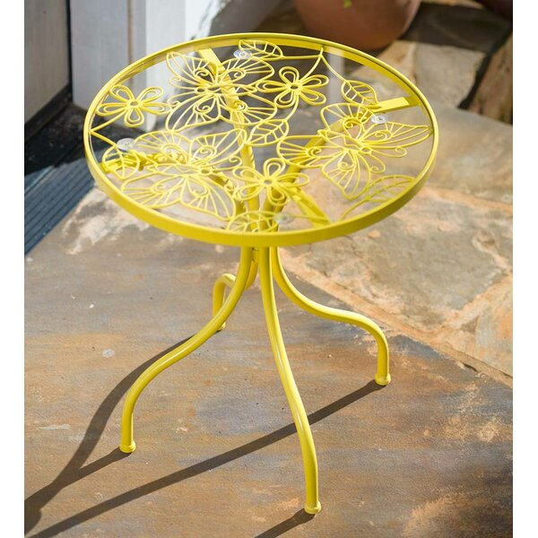 Butterfly Glass Side Table by Plow & Hearth
