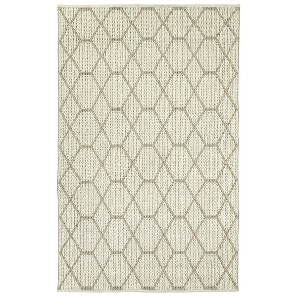 Funderburk Hand-Tufted Wool Ivory Area Rug by Ebern Designs