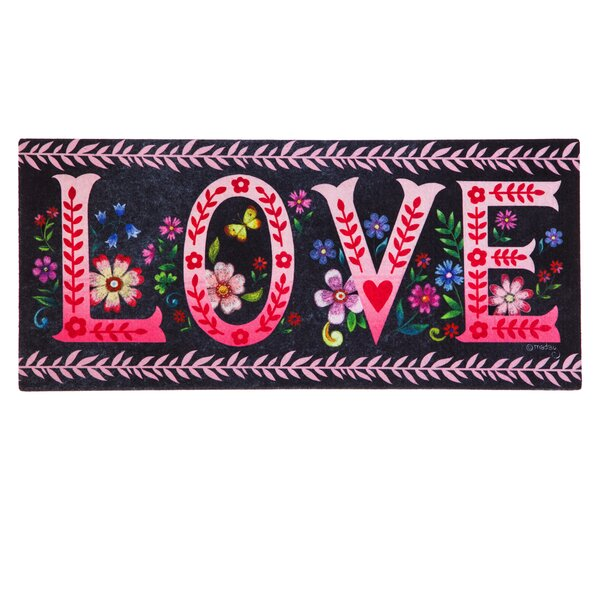 DeLussey Wildflower Love Chalkboard Sassafras Switch Doormat by Winston Porter