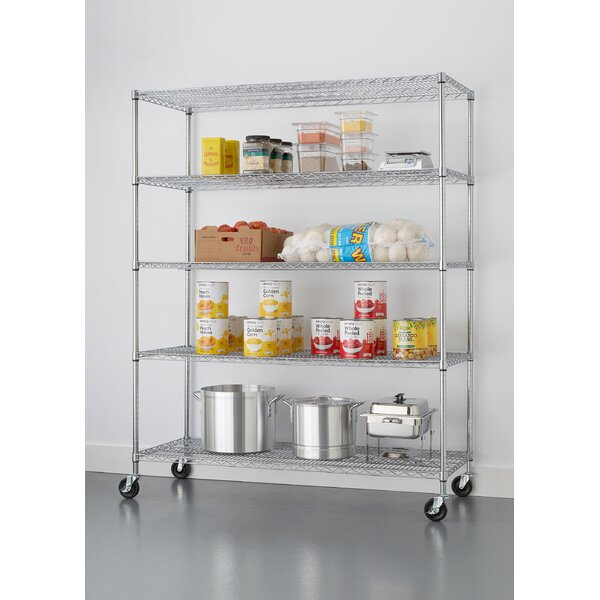 NSF Extra Large Commercial Grade 77 H 5 Shelf Shelving Unit by Trinity