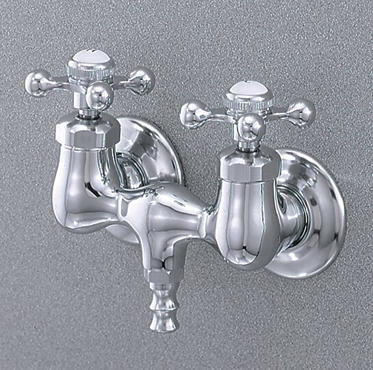 Double Handle Wall Mounted Tub Only Faucet by Cheviot Products