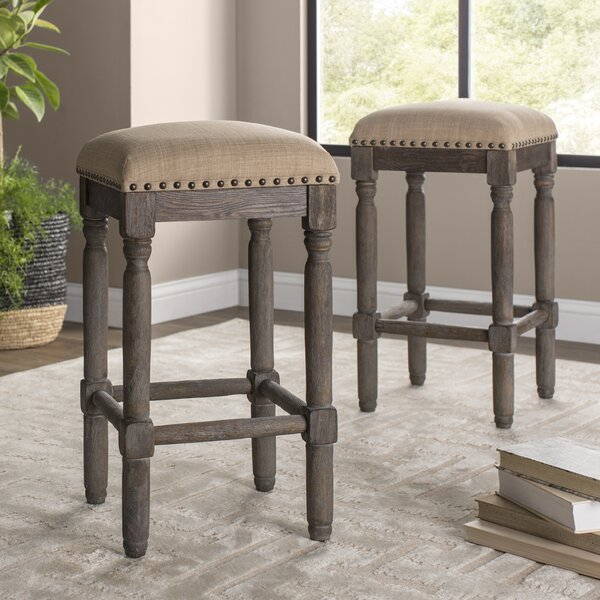 Galeana 30 Bar Stool By Highland Dunes ♎ Footstool Or