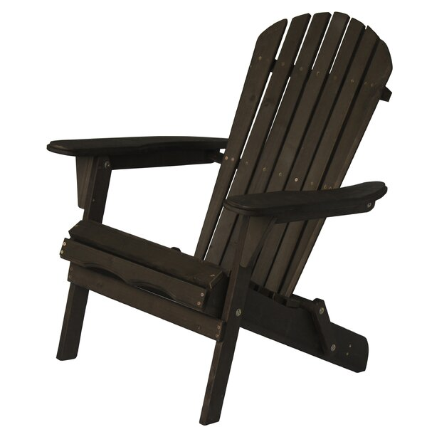 Manor Oceanic Solid Wood Folding Adirondack Chair (Set of 2) by Highland Dunes Highland Dunes