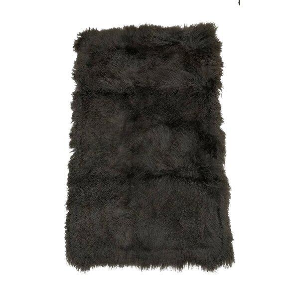 Blacksmith Tibetan Lamb Wool Throw by Foundry Select