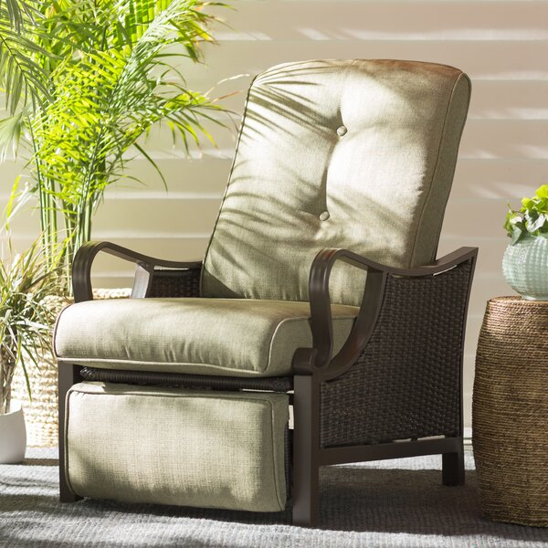 Sherwood Luxury Recliner Patio Chair With Cushions By Three Posts