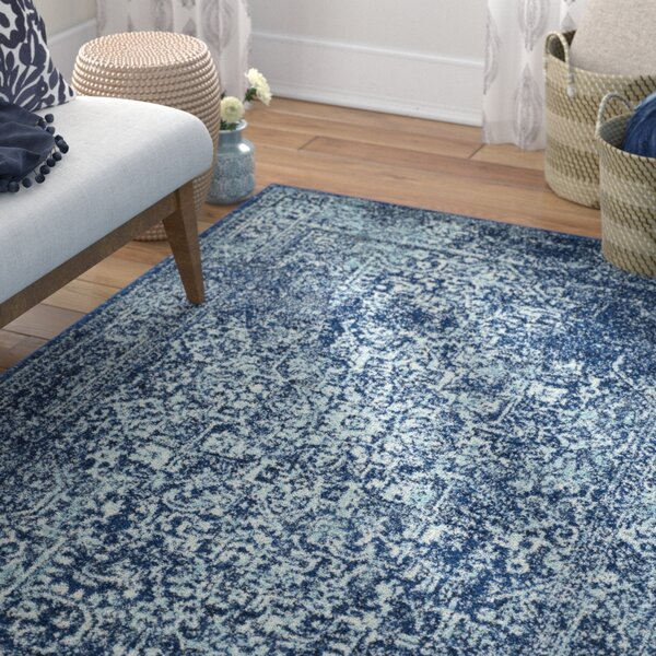 Elson Navy Area Rug by Mistana