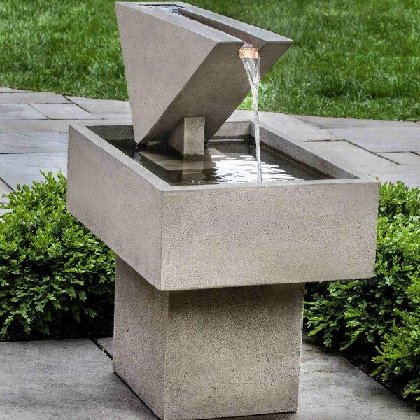 Concrete Triad Fountain by Campania International