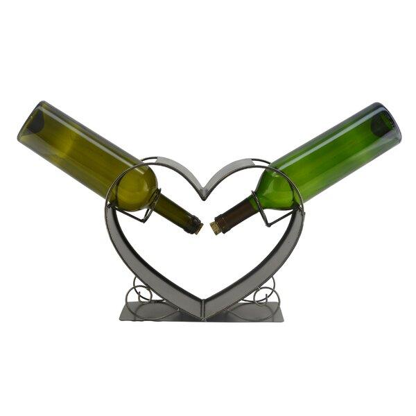Heart 2 Bottle Tabletop Wine Rack by Wine Bodies