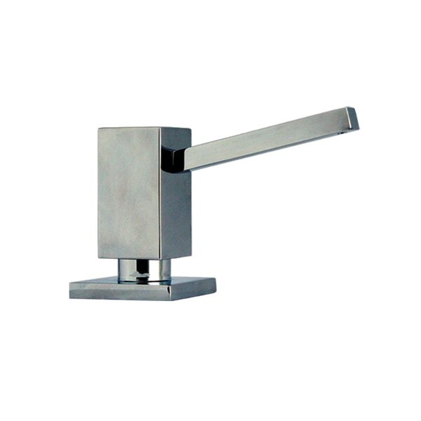 Solid Brass Square Soap Dispenser by Whitehaus Collection