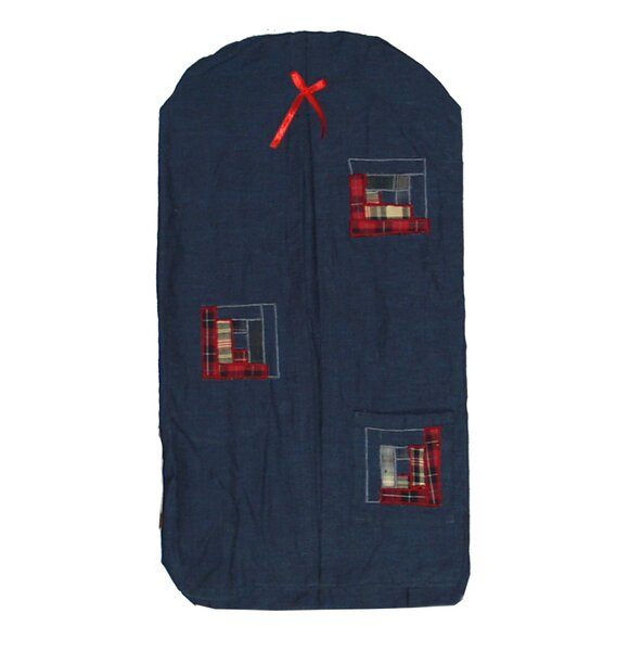 Log Cabin Diaper Stacker by Patch Magic