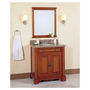 32 Single Bathroom Vanity Set with Mirror by Lanza