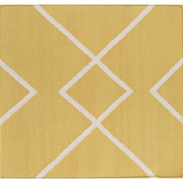 Smyth Gold/Ivory Area Rug by Mercury Row
