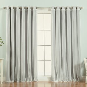 brunilda solid blackout thermal grommet single curtain panel - Blackout Curtain