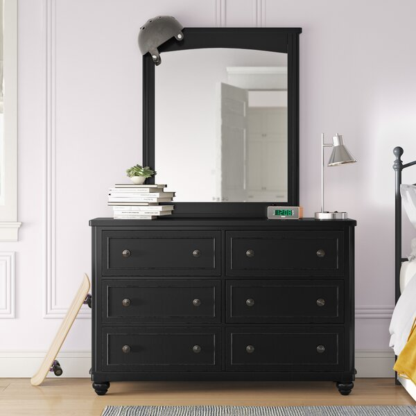 Leyla 6 Drawer Double Dresser with Mirror by Grovelane Teen