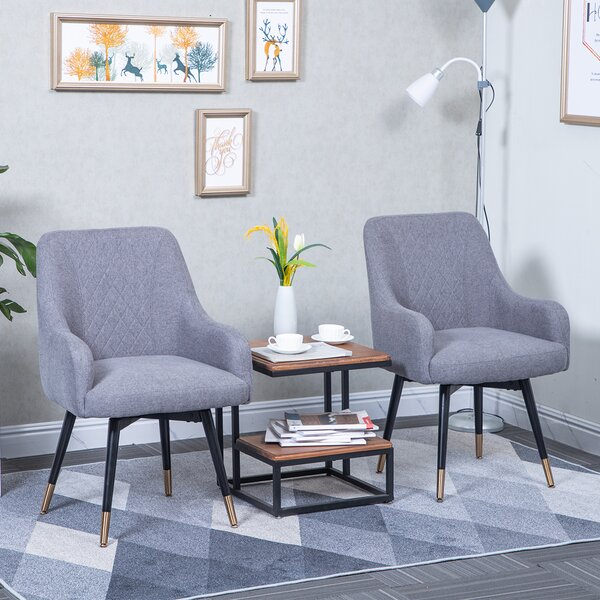 Jessop Upholstered Dining Chair (Set of 2) by George Oliver