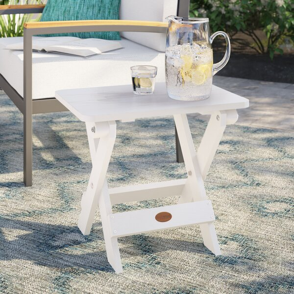 Anette Folding  Plastic/Resin Side Table by Sol 72 Outdoor