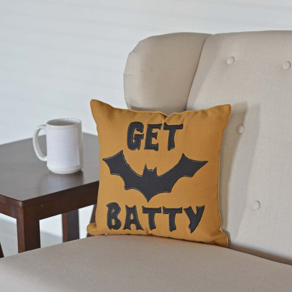 Get Batty Throw Pillow by The Holiday Aisle