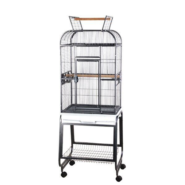 Mckenna Opening Round Play Top Bird Cage with Stand by Tucker Murphy Pet