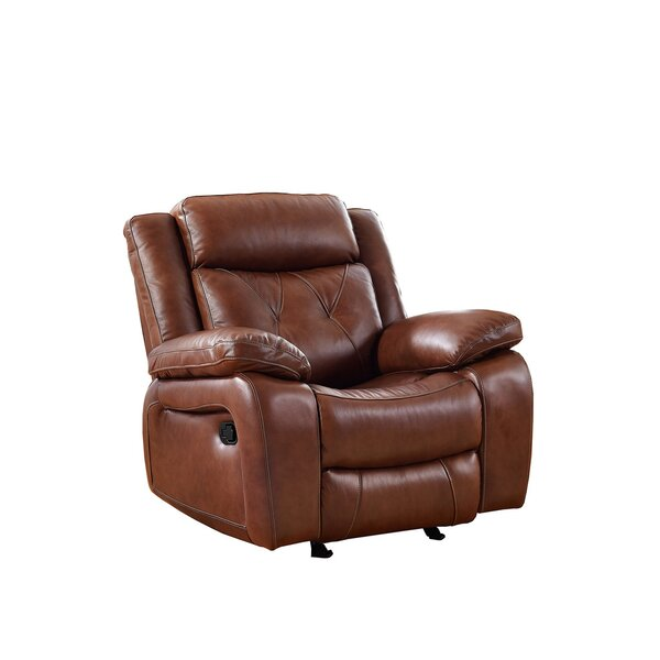 Gohoho Leather Power Recliner by Red Barrel Studio