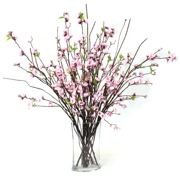 Blossoms Floral Arrangement in Vase by Gracie Oaks