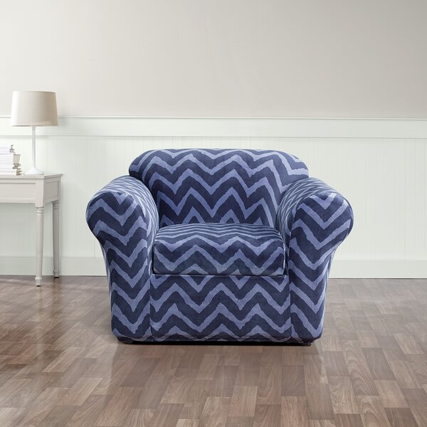 Stretch Chevron Box Cushion Armchair Slipcover by Sure Fit