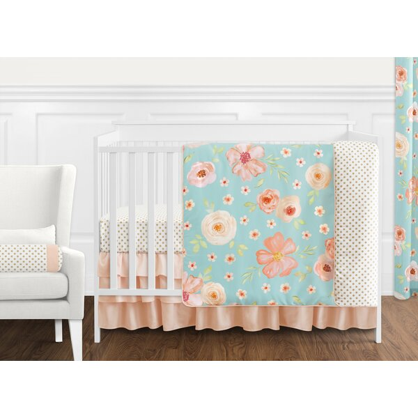 Watercolor Floral 11 Piece Crib Bedding Set by Sweet Jojo Designs