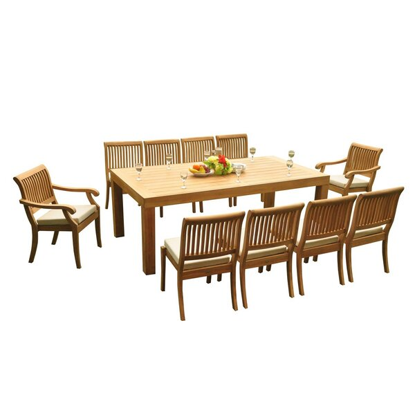 Maspeth 9 Piece Teak Dining Set by Rosecliff Heights