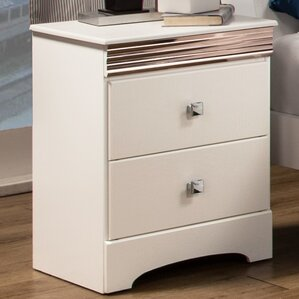 Celeste 2 Drawer Nightstand by Sandberg Furniture