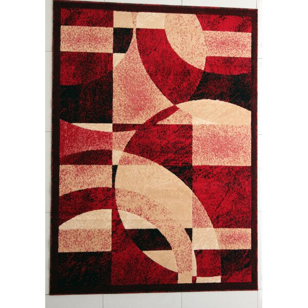 Brazile Red Area Rug by Ebern Designs