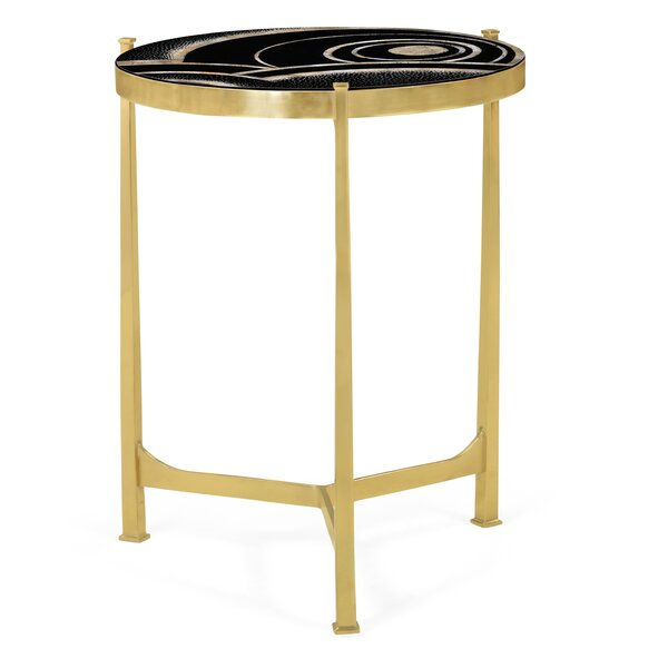 Glass Top 3 Legs End Table By Jonathan Charles Fine Furniture