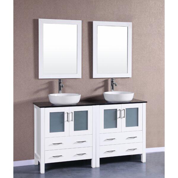 Cambridge 59 Double Bathroom Vanity Set with Mirror by Bosconi