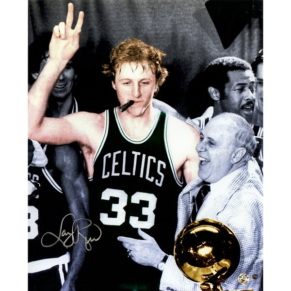 Larry Bird Signed Colorized Graphic Art by Steiner Sports