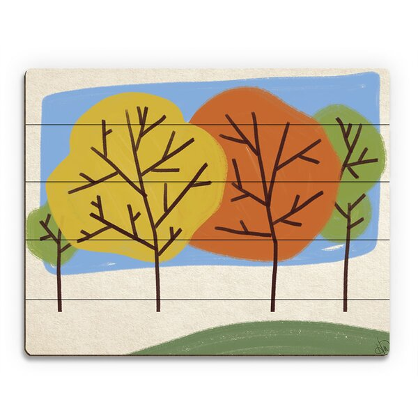 Autumn Trees Graphic Art on Wood by Click Wall Art