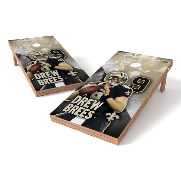 NFLPA NO Saints Drew Brees Cornhole Board by Tailgate Toss