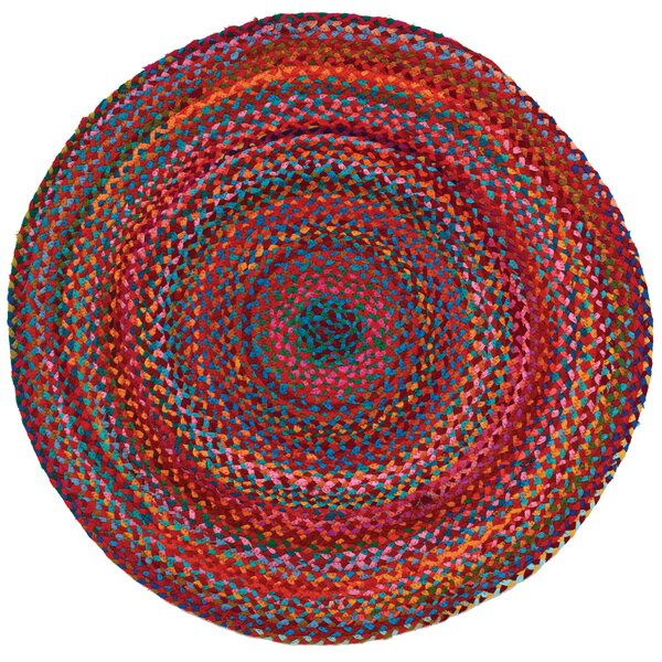 Carnivale Braided Red Area Rug by Home Furnishings by Larry Traverso