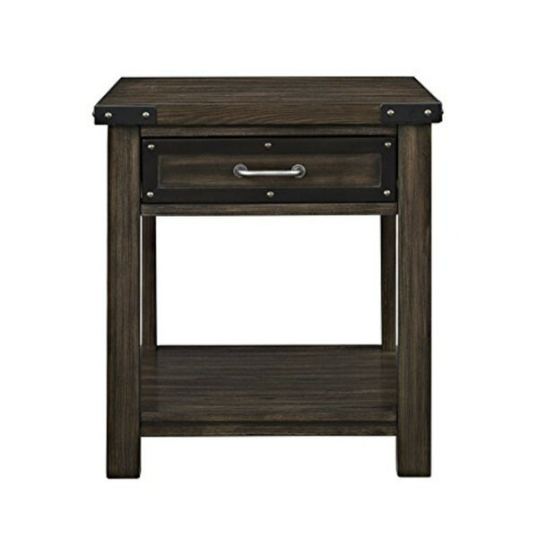 Review Samira Wooden End Table With Storage