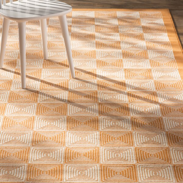 Charlotte Orange Indoor/Outdoor Area Rug by Zipcode Design