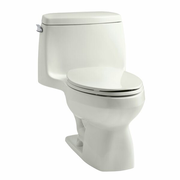 Santa Rosa One-Piece Compact Elongated 1.6 GPF Toilet with Ingenium Flush Technology and Left-Hand Trip Lever by Kohler